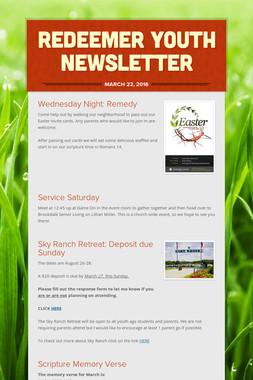 Redeemer Youth Newsletter
