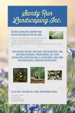 Sandy Run Landscaping Inc.