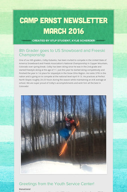 Camp Ernst Newsletter March 2016
