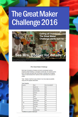 The Great Maker Challenge 2016