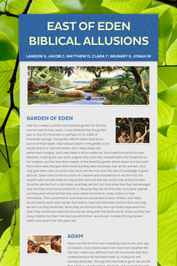 East of Eden Biblical Allusions