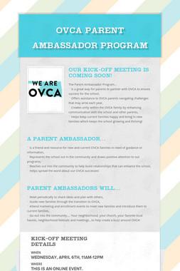 OVCA Parent Ambassador Program