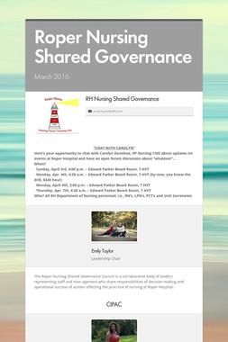 Roper Nursing Shared Governance