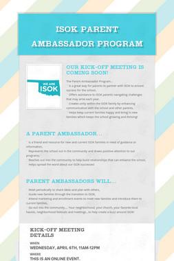 ISOK Parent Ambassador Program