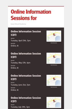 Online Information Sessions for