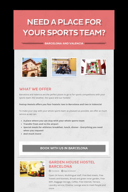 Need a place for your Sports team?