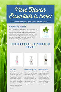 Pure Haven Essentials is here!