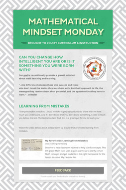 Mathematical Mindset Monday