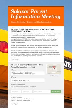 Salazar Parent Information Meeting