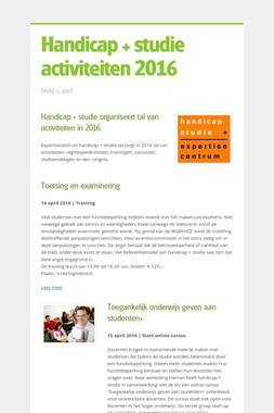 Handicap + studie activiteiten 2016