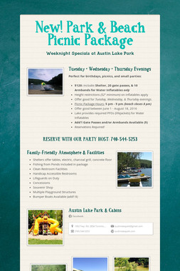 New! Park & Beach Picnic Package