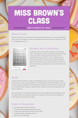 Miss Brown's Class