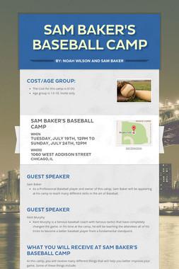 Sam Baker's Baseball Camp