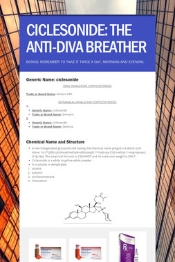 CICLESONIDE: THE ANTI-DIVA BREATHER