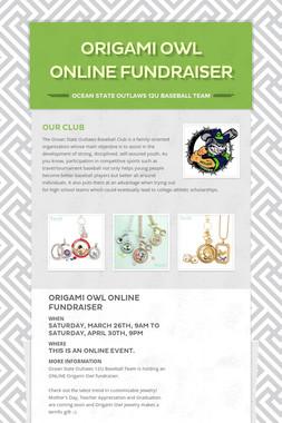 Origami Owl ONLINE Fundraiser