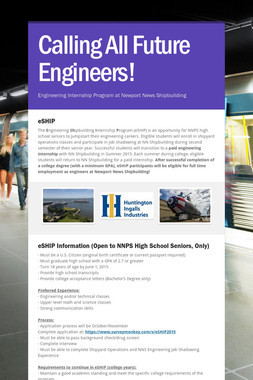 Calling All Future Engineers!