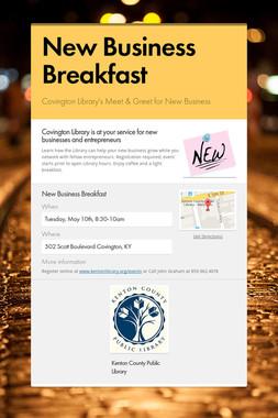 New Business Breakfast