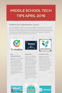 Middle School Tech Tips April 2016