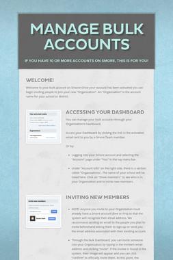 Manage Bulk Accounts