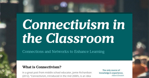 Image result for examples of connectivism in the classroom