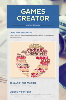 Games Creator