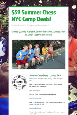 $59 Summer Chess NYC Camp Deals!