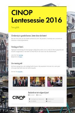 CINOP Lentesessie 2016
