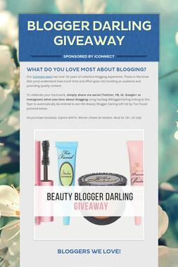Blogger Darling Giveaway