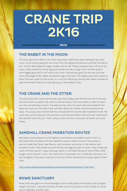 Crane Trip 2k16