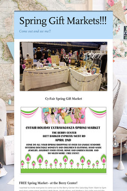 Spring Gift Markets!!!