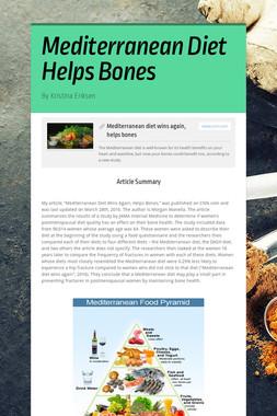 Mediterranean Diet Helps Bones