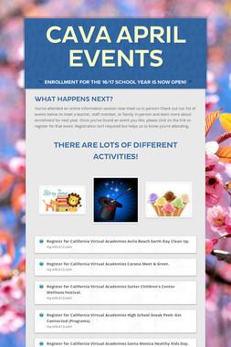 CAVA April Events