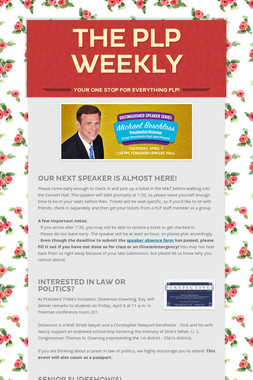 The PLP Weekly