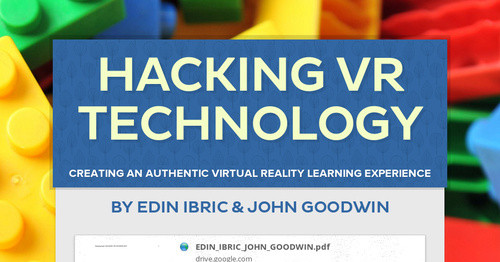 HACKING VR TECHNOLOGY | Smore Newsletters for Education