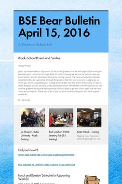 BSE Bear Bulletin April 15, 2016