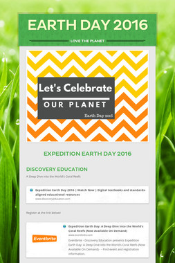 Earth Day 2016