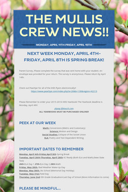 The Mullis Crew News!!