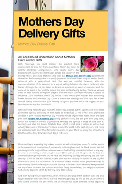 Mothers Day Delivery Gifts