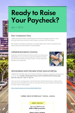 Ready to Raise Your Paycheck?