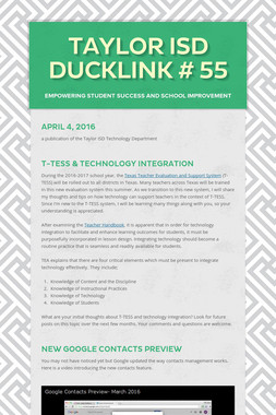 Taylor ISD DuckLink # 55