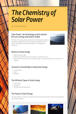 The Chemistry of Solar Power