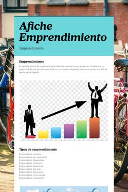 Afiche Emprendimiento