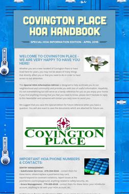 Covington Place HOA HANDBOOK
