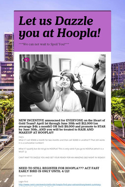 Let us Dazzle you at Hoopla!