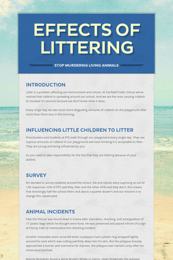 Effects of Littering
