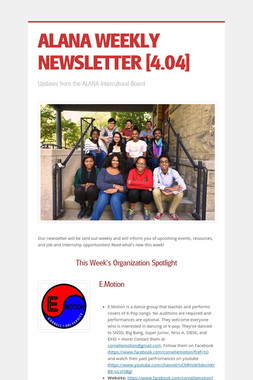 ALANA WEEKLY NEWSLETTER [4.04]