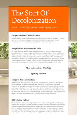 The Start Of Decolonization