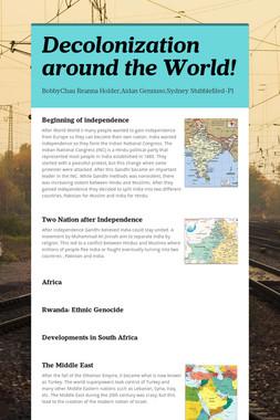 Decolonization around the World!