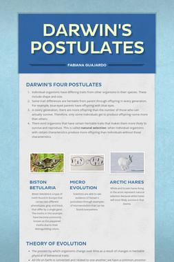 Darwin's Postulates