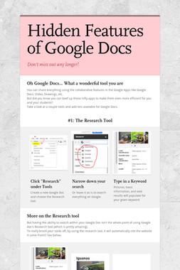 Hidden Features of Google Docs